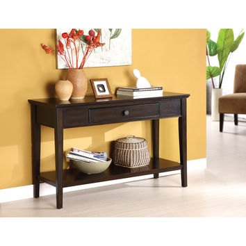 Furniture of America Karlyn Dark Cherry Sofa/ Entryway Table | Overstock.com Shopping - The Best Deals on Coffee, Sofa & End Tables