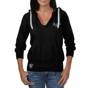 Touch by Alyssa Milano Oakland Raiders Ladies In the Bleachers Pullover Hoodie Sweatshirt - Black