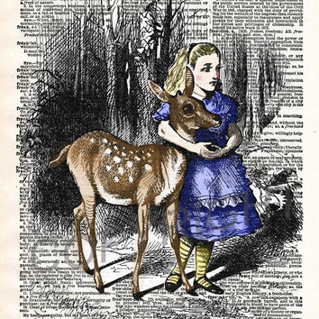 Alice In Wonderland Dictionary Art Print