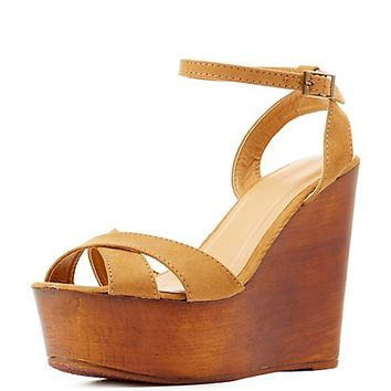 Bamboo Platform Wedge Sandals