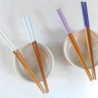 Crystalized Mineral Dipped Bamboo Chopsticks