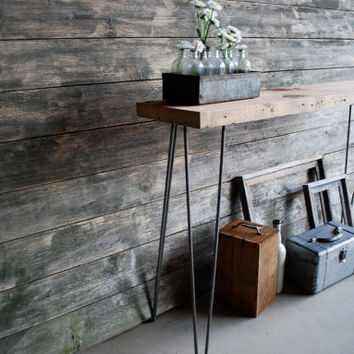 6 ft. Reclaimed Wood Console Table w/ Hairpin L...