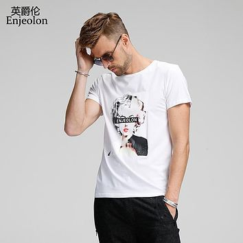 cotton t shirt men 3 color printing clothing t shirts male o neck short sleeve clothes casual clothing