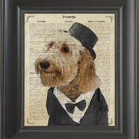 Happy dog with a suit - Printed on Friendship page  -  250Gram paper.