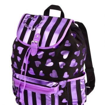 Large Metallic Hearts Rucksack | Girls Fashion Bags & Totes Accessories | Shop Justice