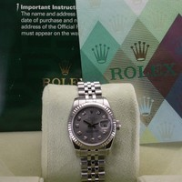 ROLEX 179174 DATEJUST SILVER DIAMOND DIAL STAINLESS STEEL LADIES WATCH Z SERIAL