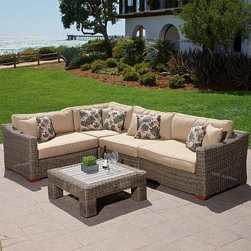 Sigma all weather rattan furniture aluminum sofa sets sectional sleeper couch
