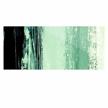 """Iris Lehnhardt """"Minimal Scape"""" Green Abstract Painting Luxe Rectangle Panel"""