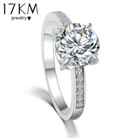 2015Fashion Design Elegant Luxury Charm Austrian Crystal Zircon Ring Wedding Engagement Bridal Fine Jewelry Rings For Women CS12