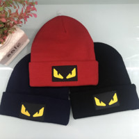 Fendi Autumn and winter new fashion knit letter hat embroidery cap three color