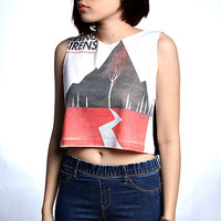Sleeping with Sirens T Shirt Crop Top Tank Shirts Size S M L