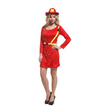 adult firewoman perfomance dress halloween fireman cosplay firefighter costumes  firefighter costumes