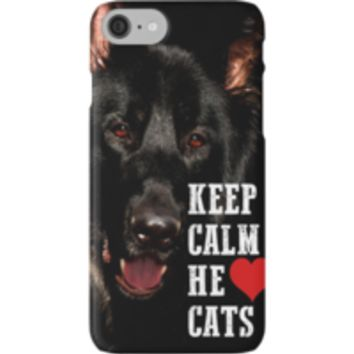 'He Loves Cats' iPhone Wallet by Dwiner