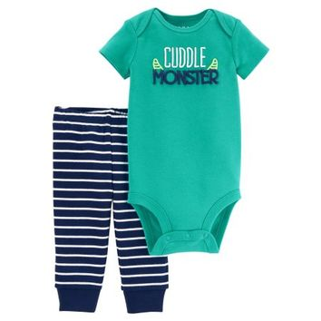 Child of Mine by Carter's Baby Boy Short Sleeve Bodysuit & Pants, 2pc Outfit Set - Walmart.com