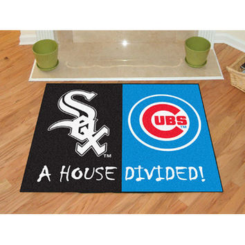 "Fan Mats Mlb Chicago White Sox Mlb Chicago Cubs House Divided Rugs 34""X45"""