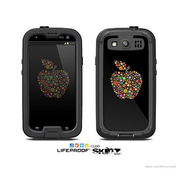 The Apple Icon Floral Collage Skin For The Samsung Galaxy S3 LifeProof Case