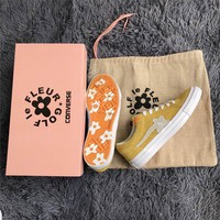 Converse one star X Golf le fleur TTC Yellow Sneaker Shoes 35-44
