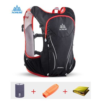 AONIJIE 5L Upgraded Marathon Hydration Vest Pack for 2L Water Bag Trail Running Backpack Bag Outdoor Sports Reflective Backpack