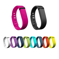 Ecsem® New 10pcs Colorful Large Replacement Wristband Band with Clasps for Fitbit Flex Only /No Tracker/ Wireless Activity Bracelet Sport Wristband Fit Bit Flex Bracelet Sport Arm Band Armband Fitness Case