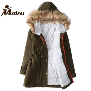 Women Autumn & Winter Fur Coat Fashion Basic Jacket Female Anorak Cotton Parka Ukraine Manteau Femme Overcoat Outerwear & Coats