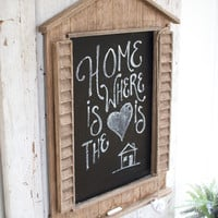 Recycled Wooden Blackboard with Shutters