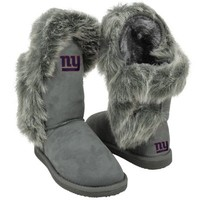 Cuce Shoes New York Giants Ladies Fanatic II Boots - Gray