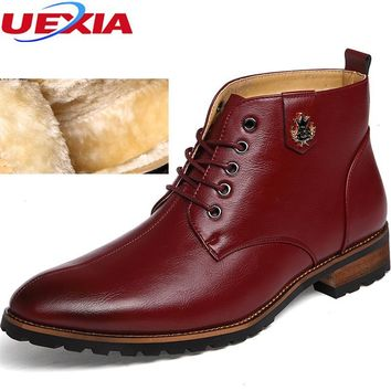 Men's British Martin Thermal Pointed Toe Ankle Boots