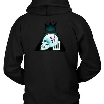 DCCKG72 Twenty One Pilots Fall Out Boy Paramore Logo Combination Hoodie Two Sided
