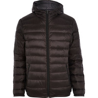River Island MensBlack padded casual jacket
