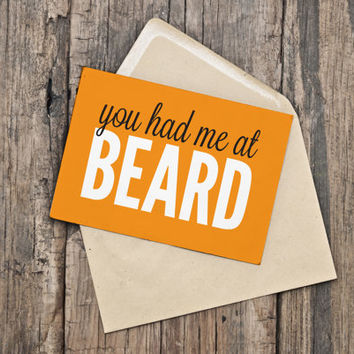 Printable Valentine's Day Card / Funny Valentine / Beard / Love / Dating