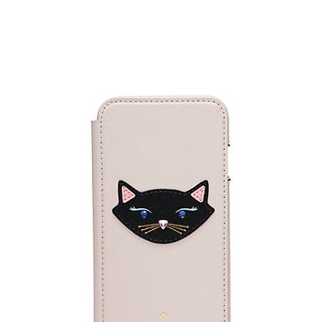 leather cat folio iphone 6 case