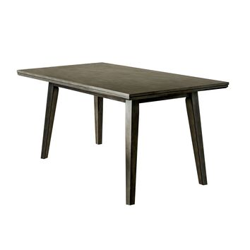 Joplin Mid-Century Modern Dining Table, Gray