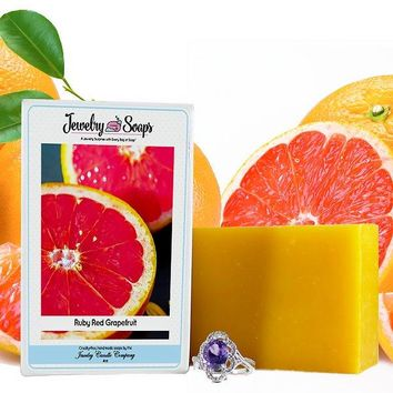 Ruby Red Grapefruit Jewelry Soap (Comes with Jewel!)