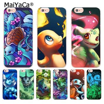 MaiYaCa Charizard Squirtle Vaporeon Pokemons  Phone Accessories Case for Apple iPhone 8 7 6 6S Plus X 5 5S SE 5C XS XR XSMAX