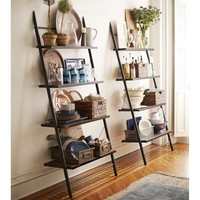 Morgan Leaning Bookcase