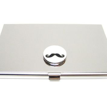 Business Card Holder with Mustache Pendant