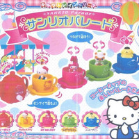 Bandai Sanrio Gashapon Parade Tea Cup Part 1 Hello Kitty My Melody Purin Kuririn 5 Figure Set