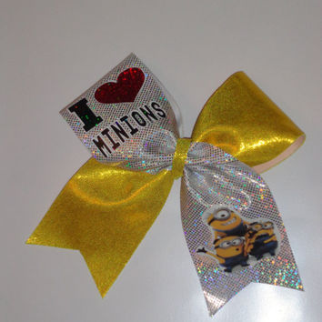 Character  Little Yellow Guys Cheer Bow