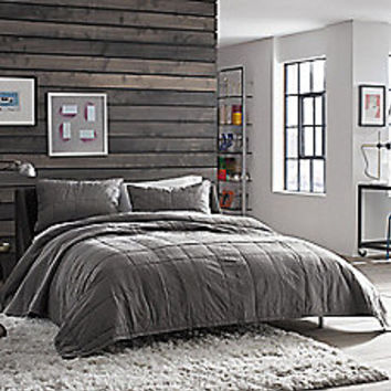 Kenneth Cole Reaction Home Reflections Coverlet in Gunmetal