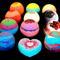 12 Bath Bombs Lot Fizzy Fizzies Lush Luxurious Great Gift 4.5 oz Free Shipping