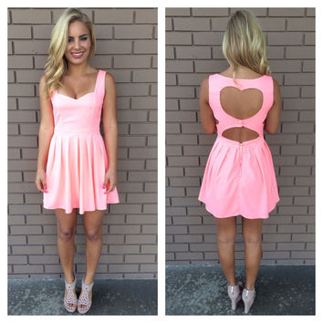 Hot Pink Cut My Heart Out Dress