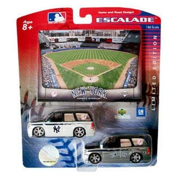 New York Yankees Escalade Home & Road 2 Pack Diecast SUV NIB 1:64 Upper Deck NY