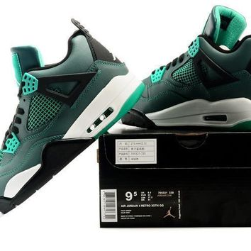 Air Jordan 4 Retro 30th Gg Teal Sneaker Shoes Us Size 8 12