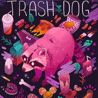 Trash Dog Art Print by Theresa O'Reilly