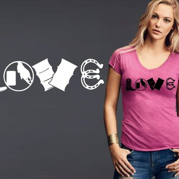 Barrel Racer Love T-shirt | Cowgirl T shirt