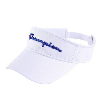 Champion Fashion New Embroidery Letter Sun Protection Women Men Cap Hat White