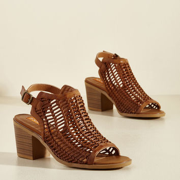 A Pledge to Edge Block Heel | Mod Retro Vintage Heels | ModCloth.com