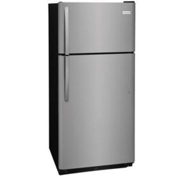 Shop Frigidaire 18-cu ft Top-Freezer Refrigerator (EasyCare Stainless Steel) at Lowes.com