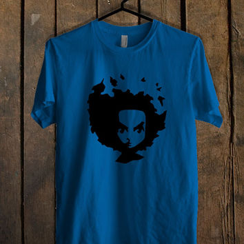 The Boondocks Huey Face Blue Mens T Shirt **