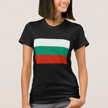 Women T Shirt with Flag of Bulgaria